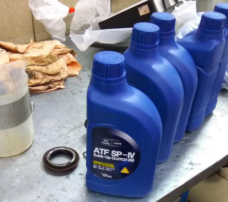 Замена масла в акпп hyundai ix35 своими руками