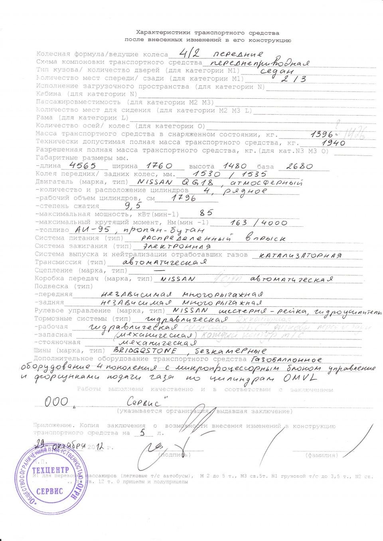Образцы заполнения документов на гбо населенные