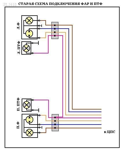 ЦПС x 4 реле света. Схемы.