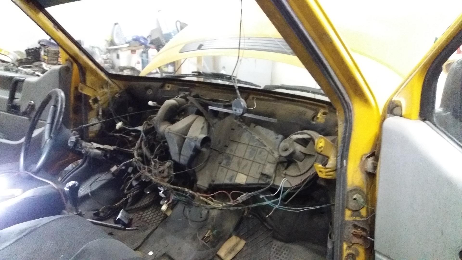 Замена радиатора печки фольксваген транспортер спк конвейер