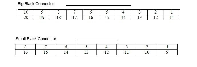Схема распиновки обоих