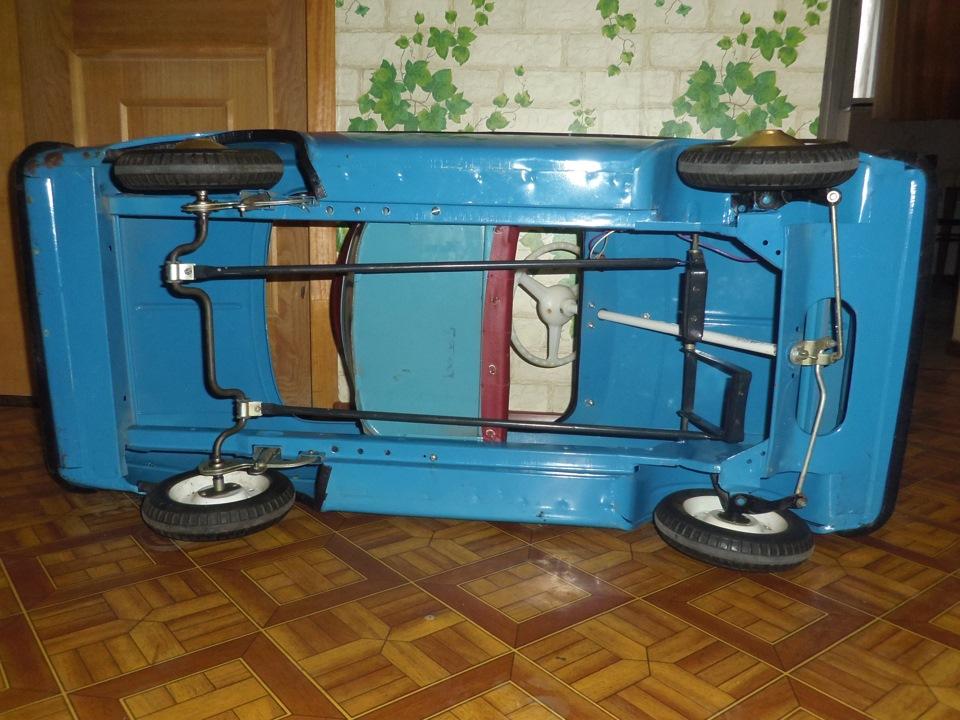 Педальная машина москвич размер