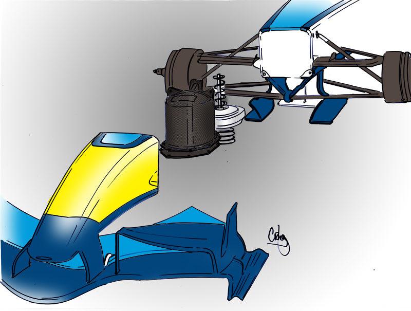 Mass-damper, который инженеры Renault использовали в конструкции автомобиля в сезоне-2006