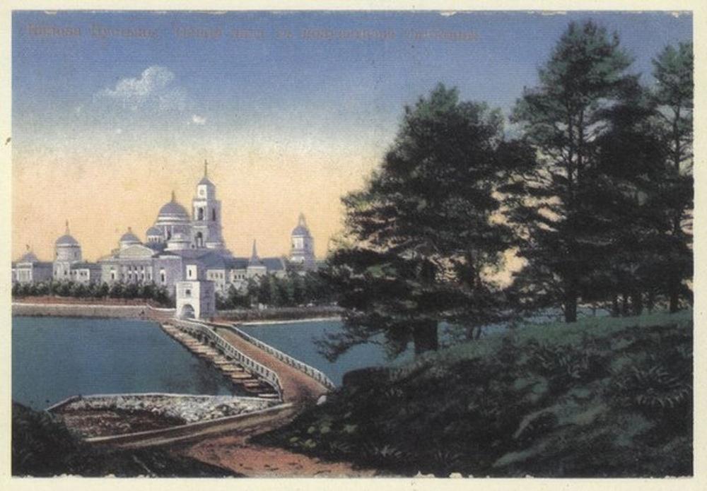 Остров в старых открытках, новым годом картинках
