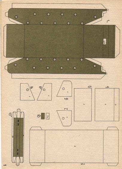 Как сделать танк из бумаги шаблоны, для тебя