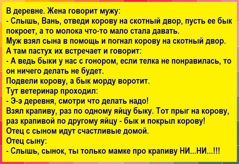 Анекдоты Быков