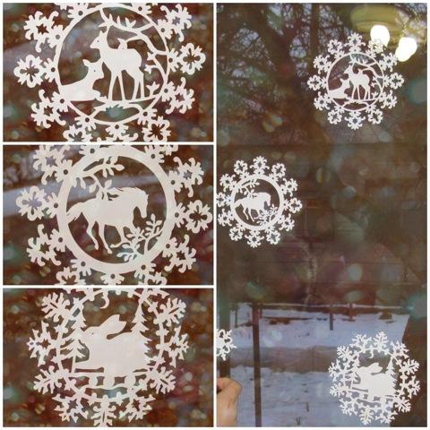Как сделать снежинку на окна