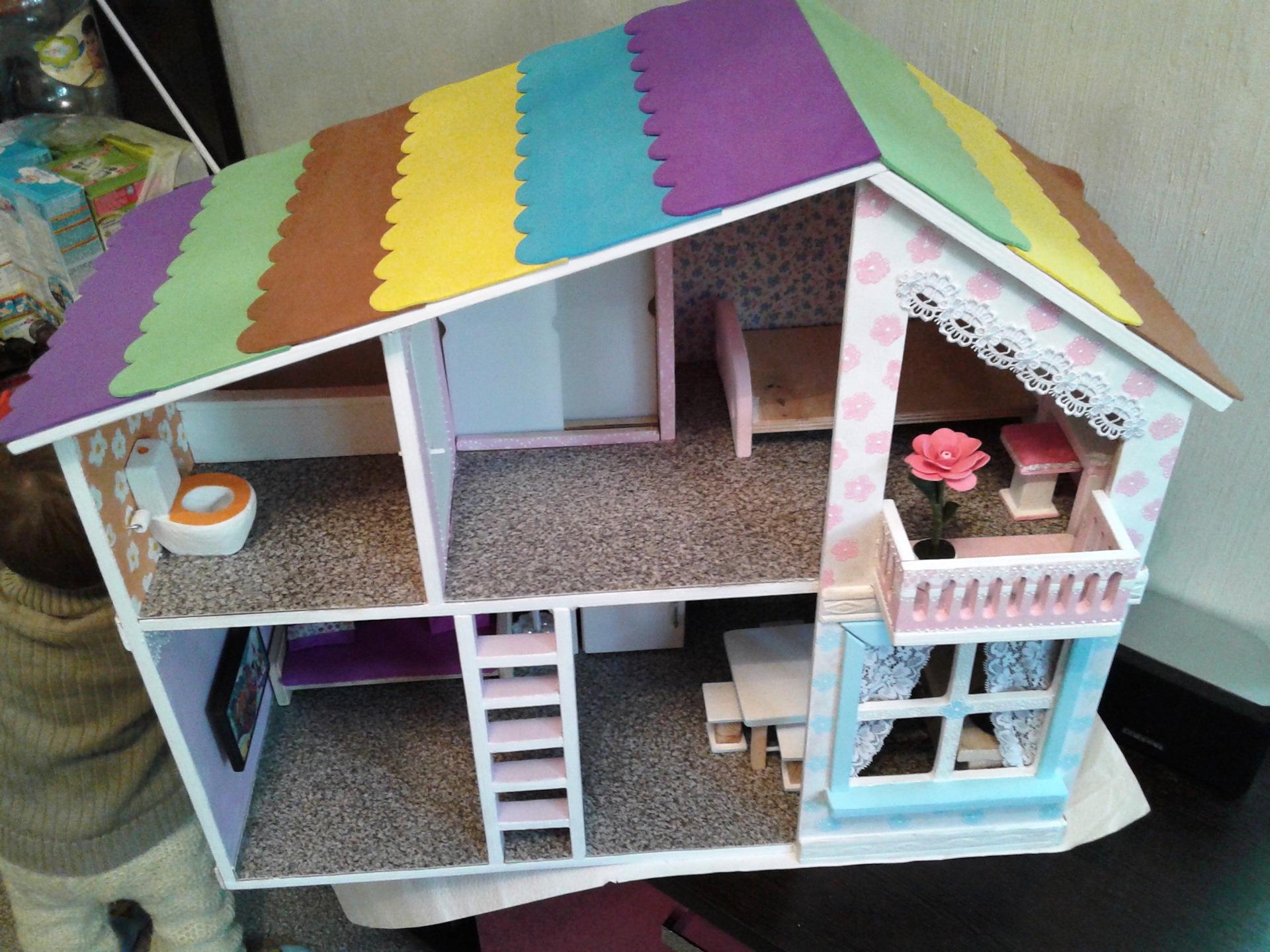Кукольный домик своими руками пошаговое фото 18