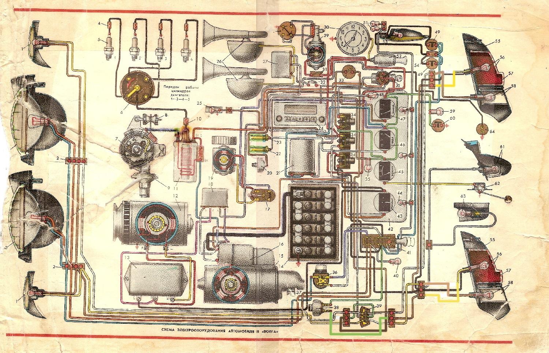 Схема электропроводки а м газ