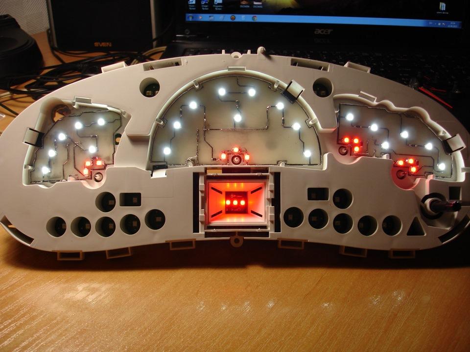 Светодиоды для панели приборов своими руками 16