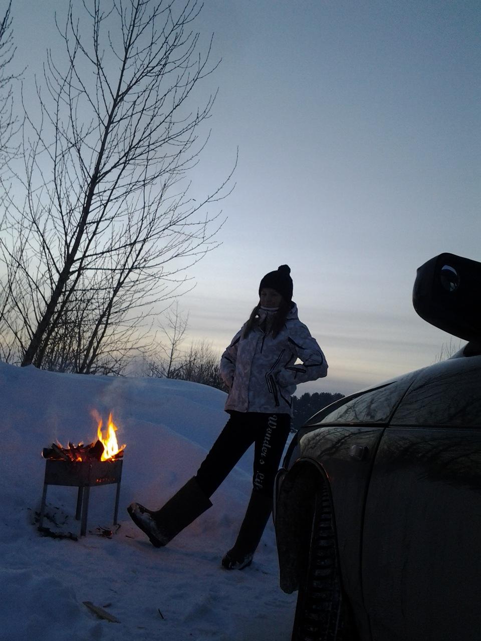 шашлык зимой