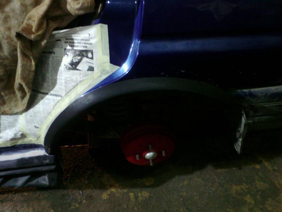 накладки задних арок на ford escort