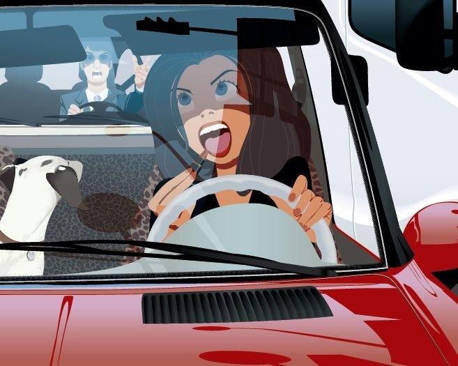 Девушка за рулем фото 417-450