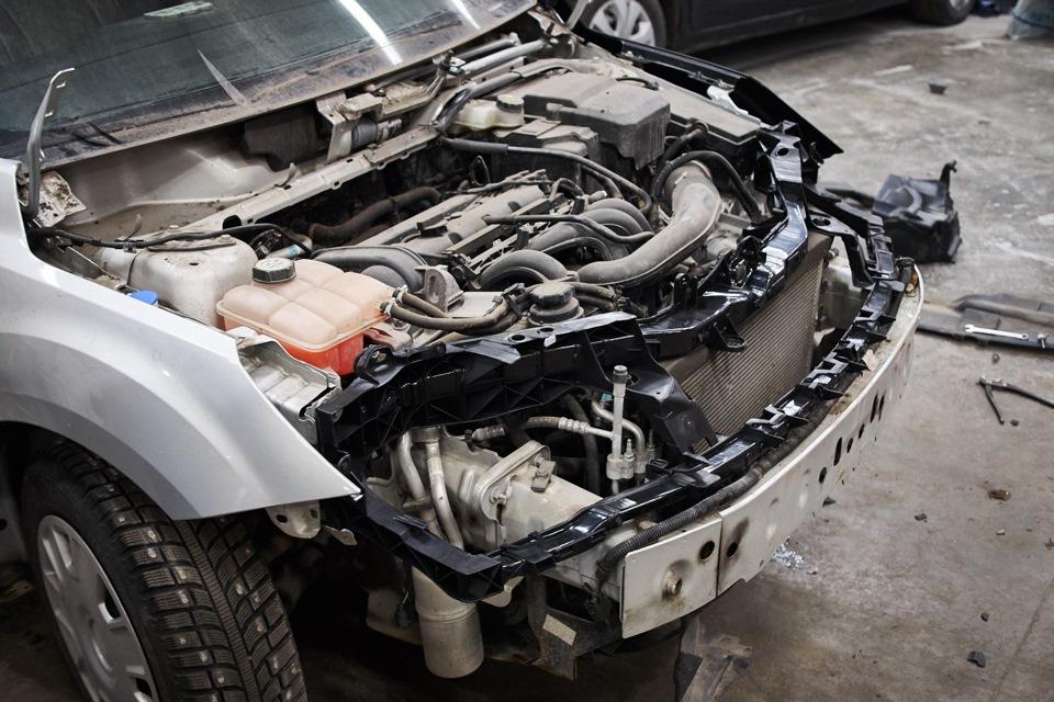 Установка передней панели Ford Focus