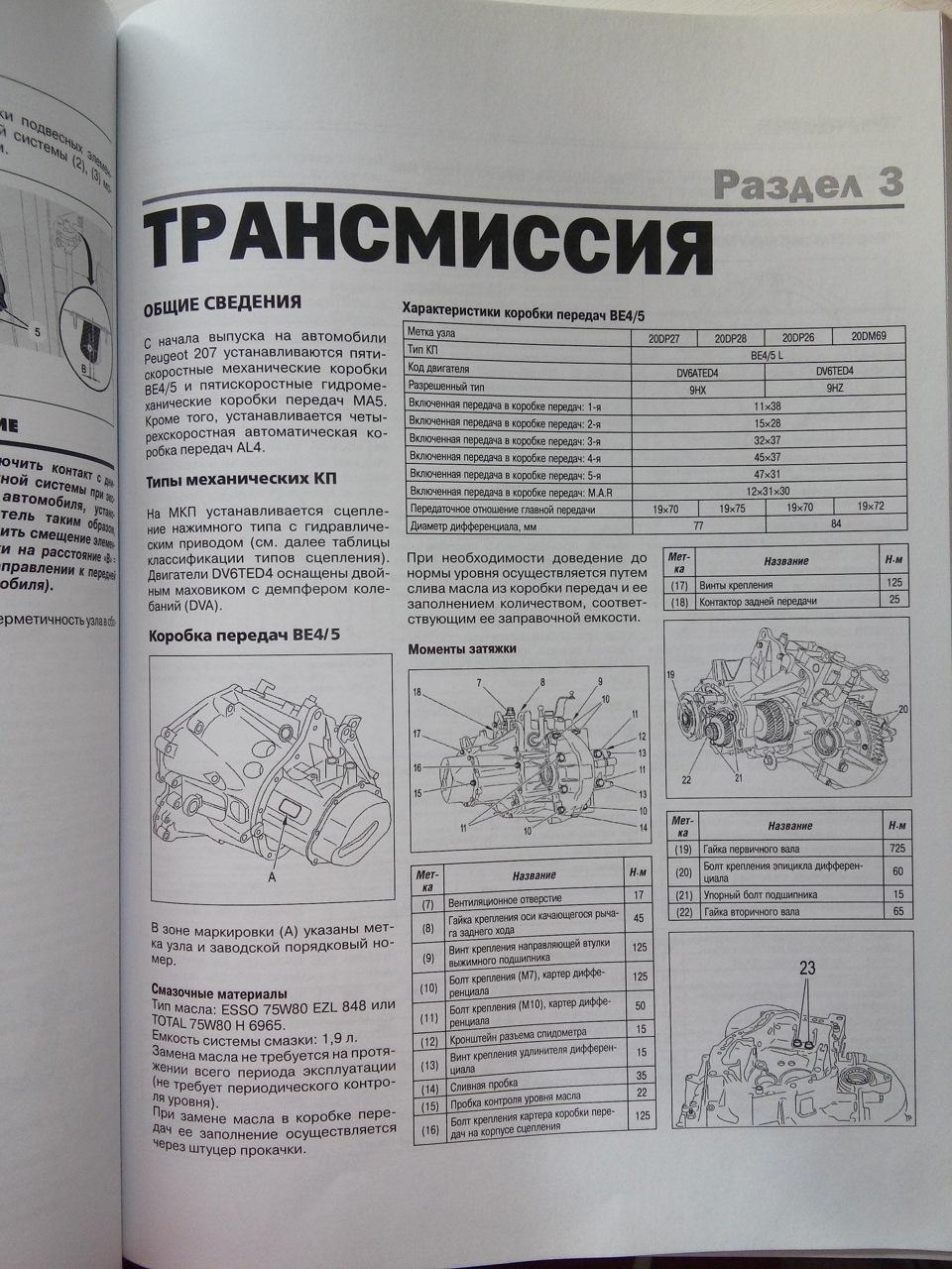 Руководство по ремонту peugeot 207 pdf