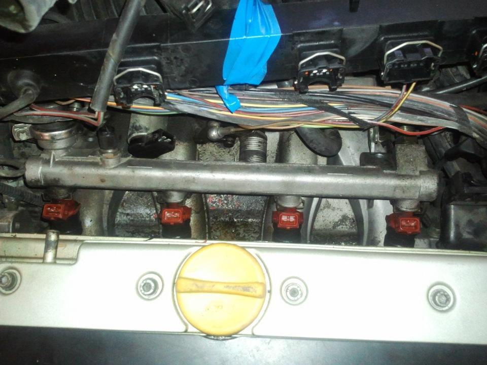 заменить форсунки опель омега 2л 16 клапанов