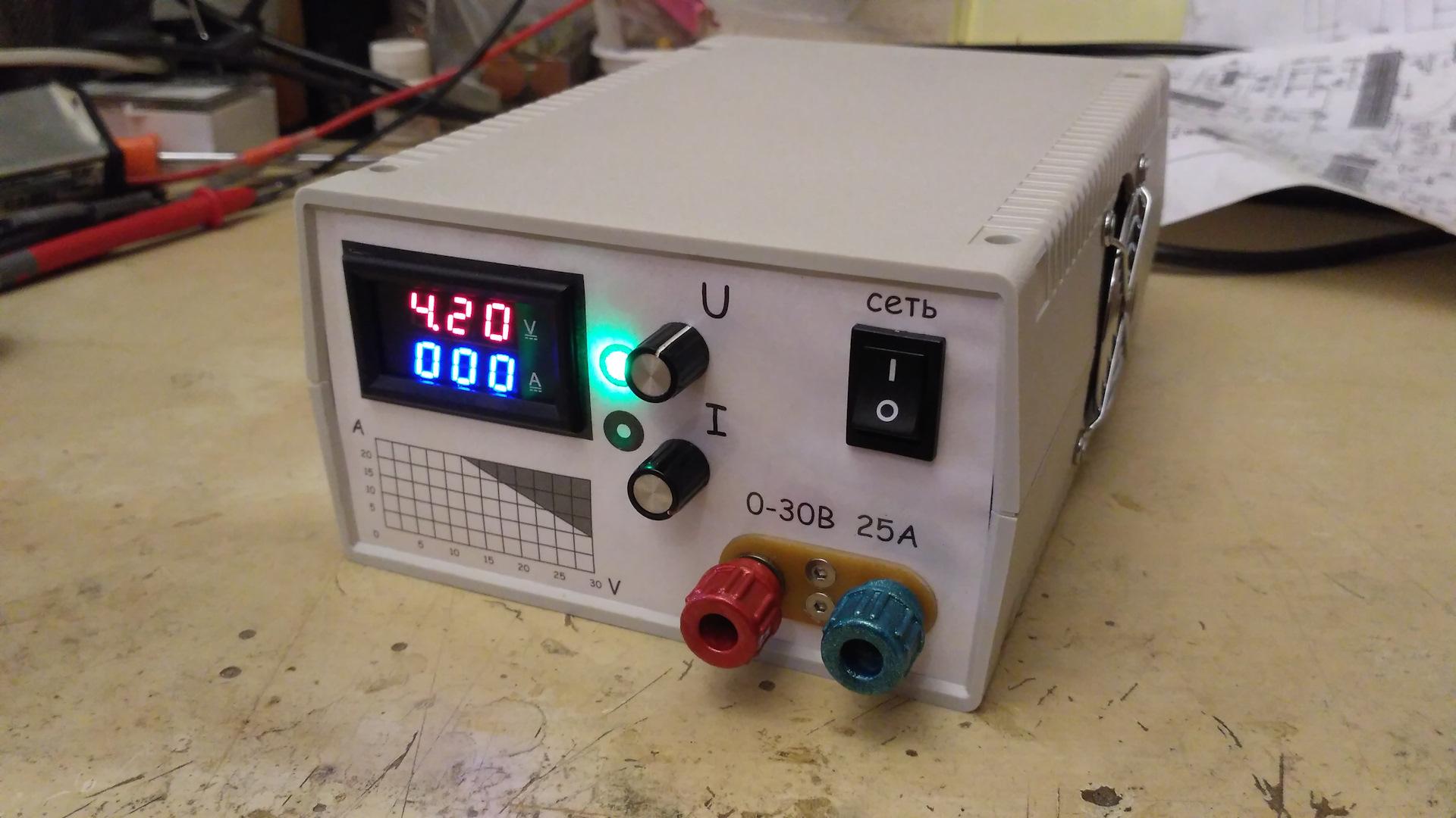 Лабораторный блок питания из БП АТ DRIVE 2
