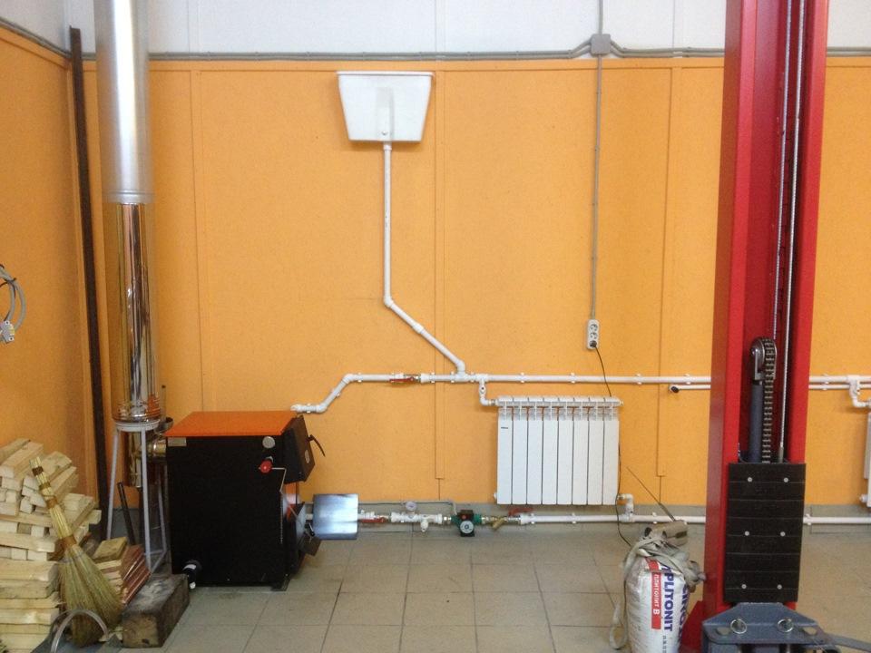 Как сделать отопление в гараж своими руками 578