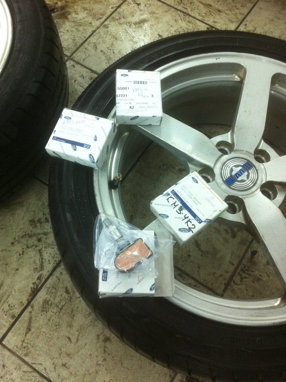 ford s-max датчик давления в шинах