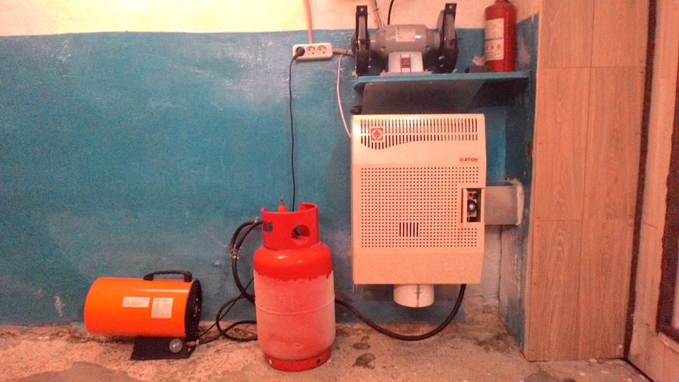 Отопление гаража без электричества