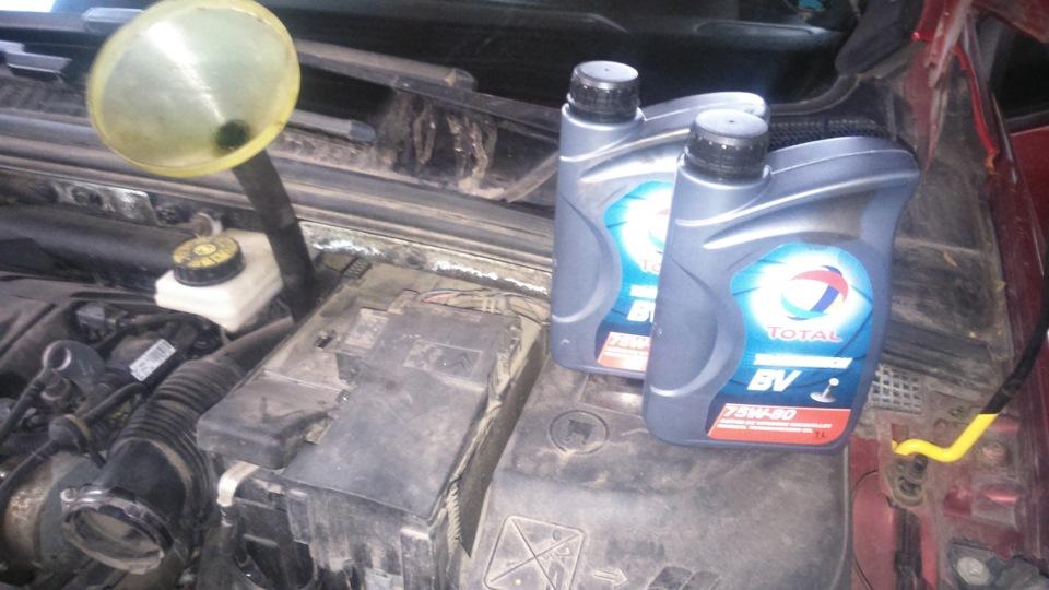 Как поменять масло на пежо 308