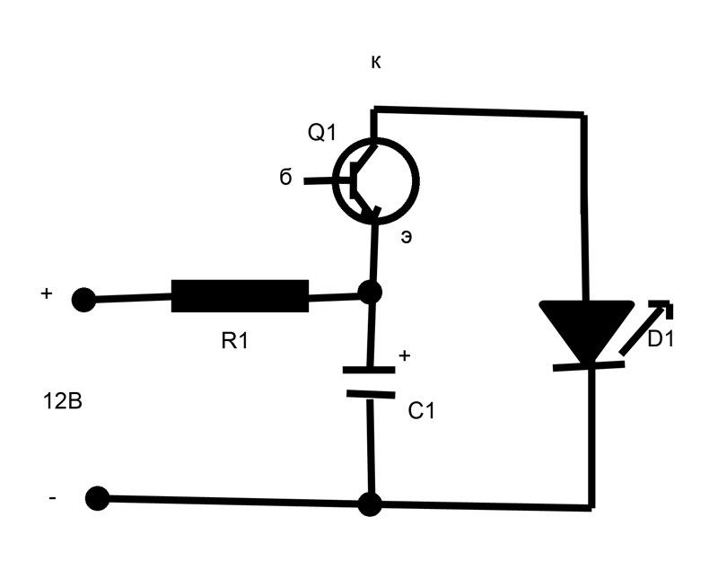 Схема для изготовления стробоскопа. резистор,( на 1.5кОм 0,25Вт).  На такой плате припаиваем все компоненты.