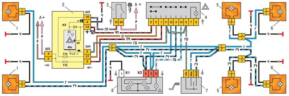 Схема аварийки жигули