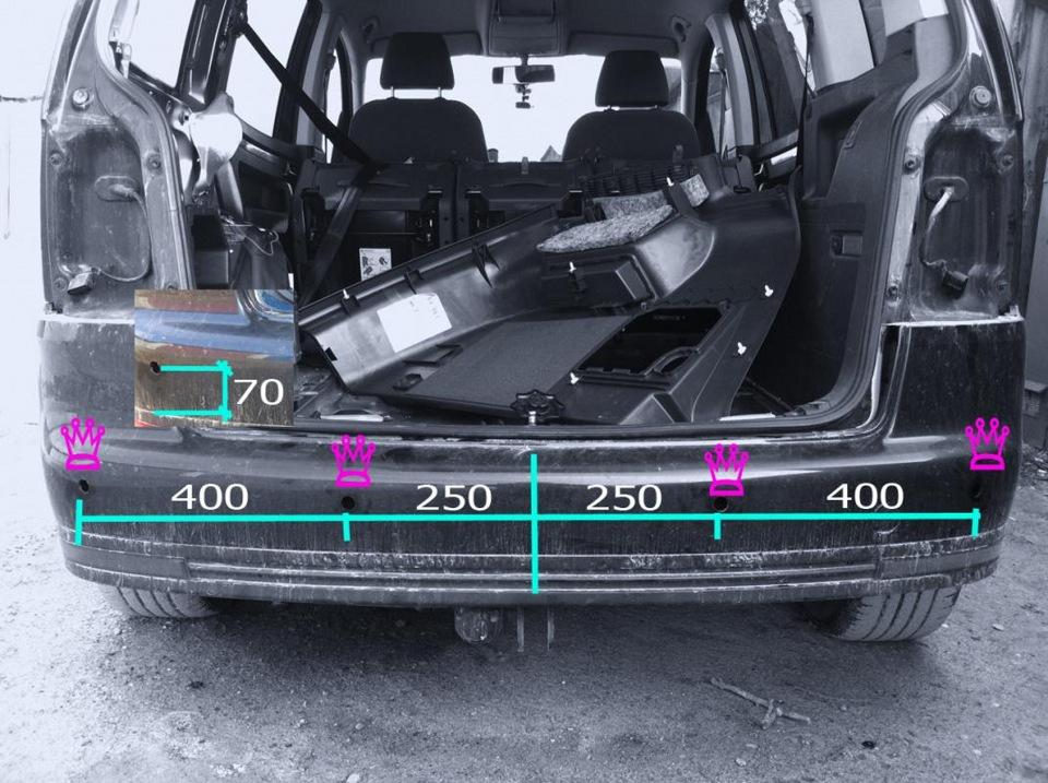 Как установить парктроник на фольксваген