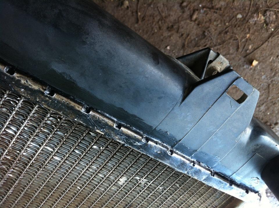 Ремонт пластикового радиатора охлаждения автомобилей