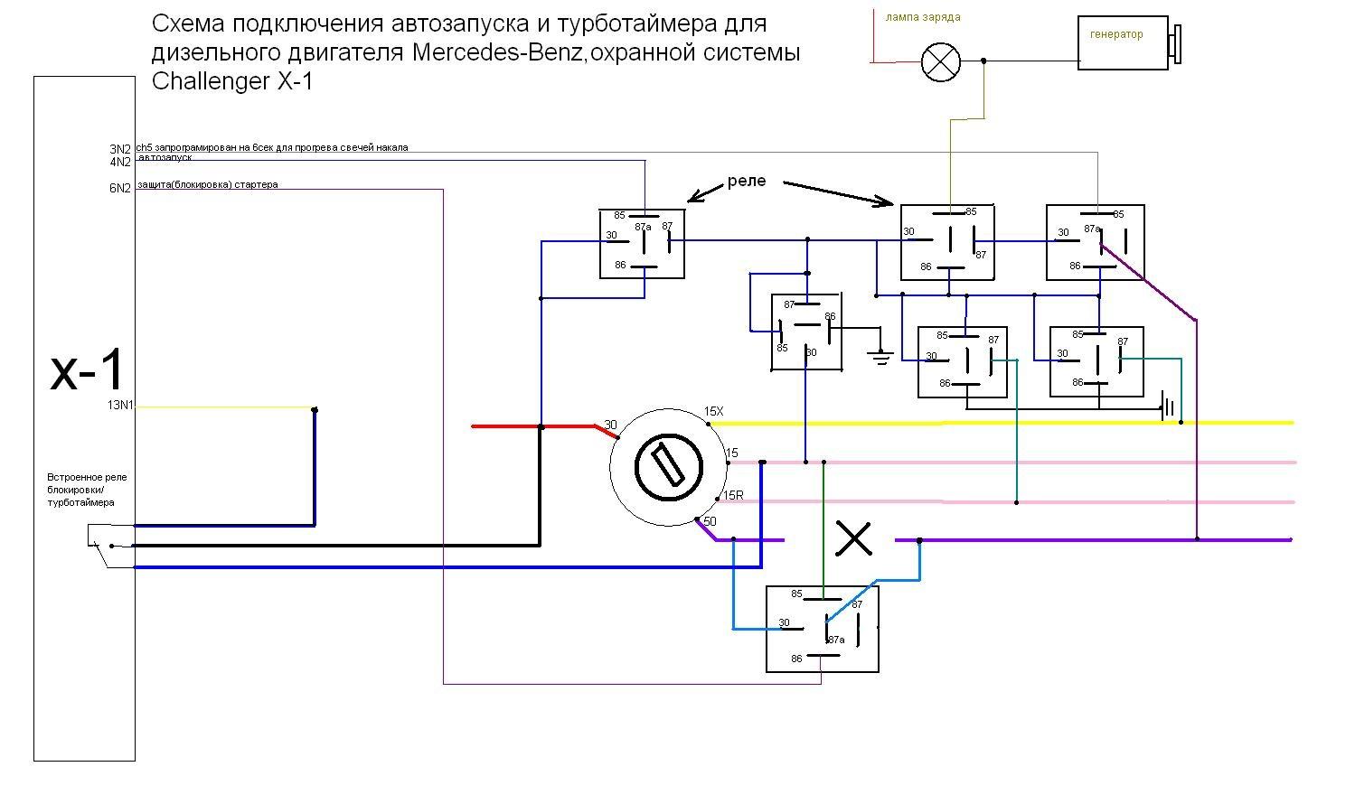 Схема подключения сигнализации томагавк без автозапуска