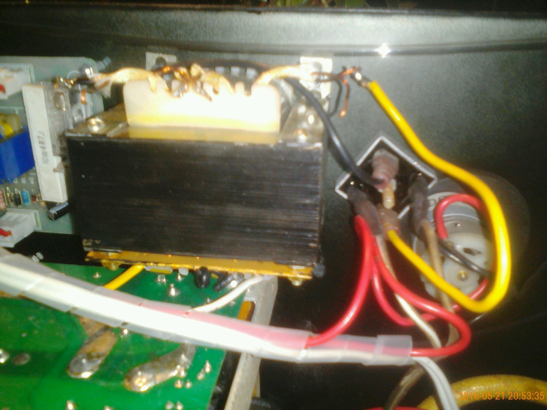 инвертор переделан приделана проволока фотоотчет стоит месте