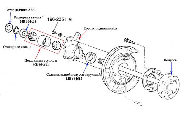 диск тормозной задний тойота королла 120