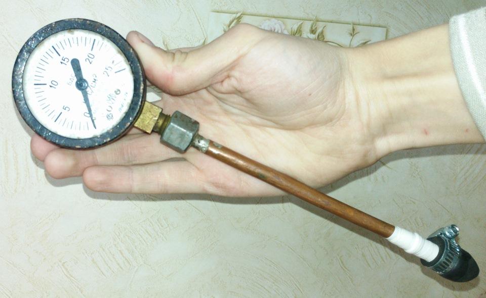 Манометр для измерения давления в цилиндрах своими руками