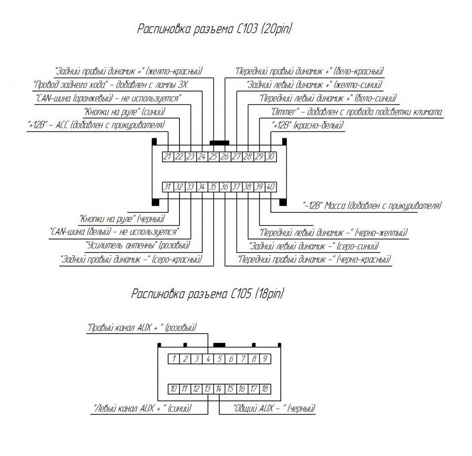 схема автомагнитола калина2 iso