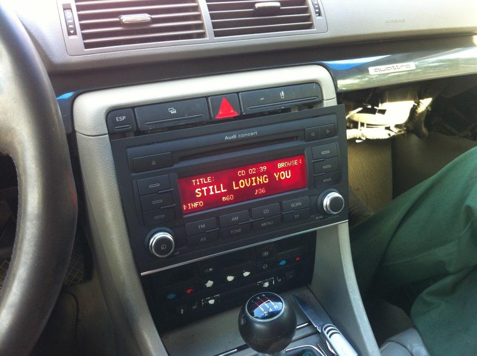 audi symphony нечетные радио