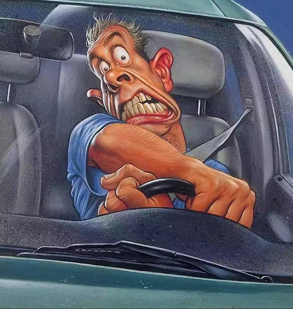 Смешные картинки мужик за рулем, машинами