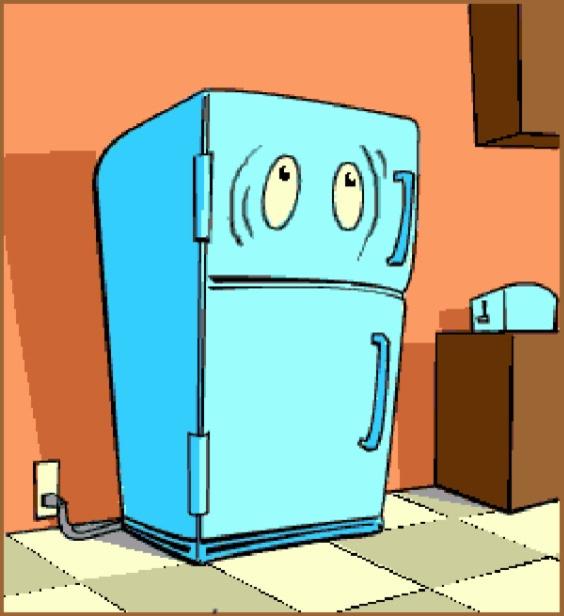 Холодильник картинки прикольные, открытку прислали мой