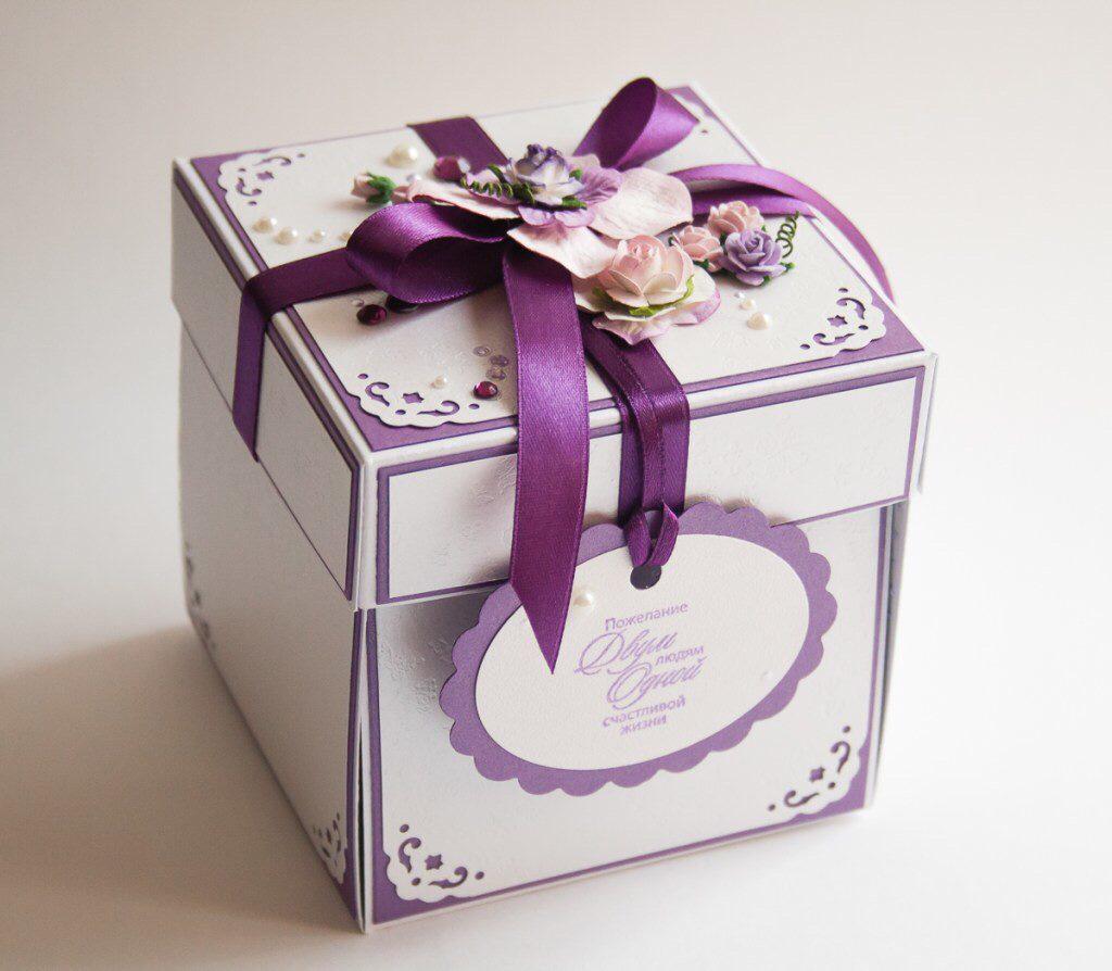 Подарочная открытка коробка