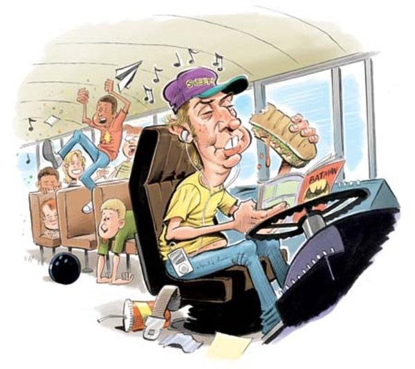Прикольные картинки для водителей автобусов, стильная открытка