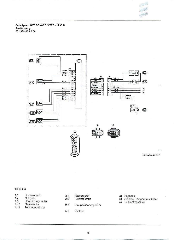 Eberspacher d5wz схема подключения фото 689