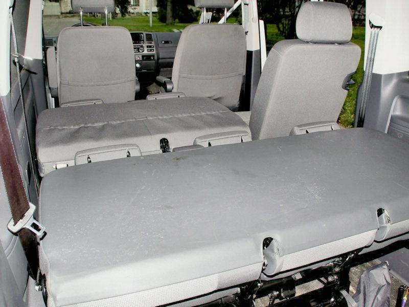 Задний ряд сидений фольксваген транспортер применение шнековых конвейеров
