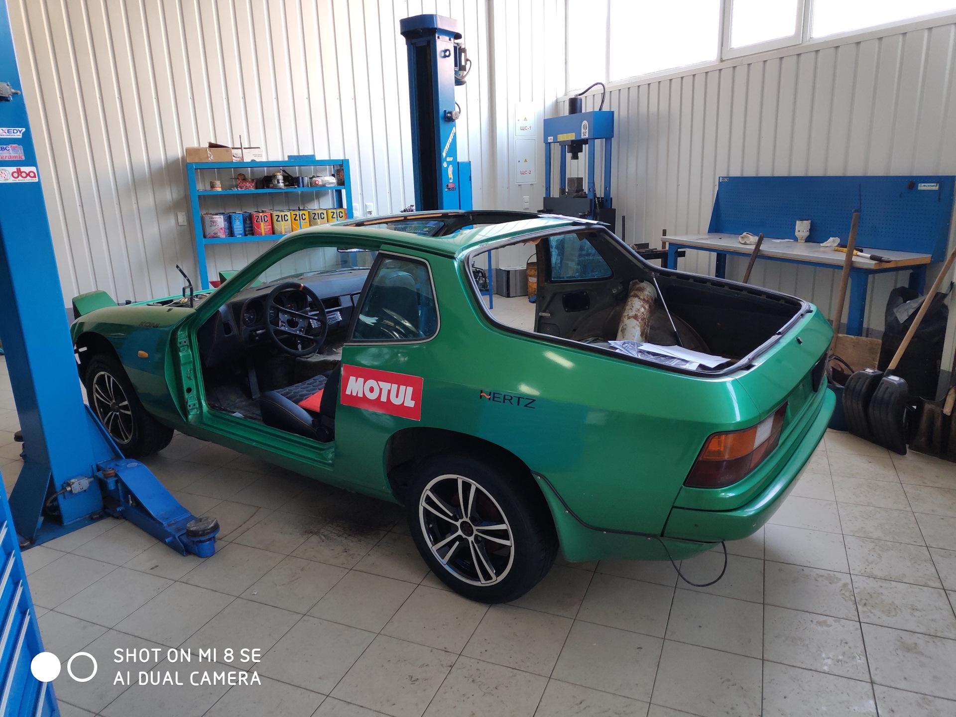 Обои двигатель, Porsche 924, 1980. Автомобили foto 18