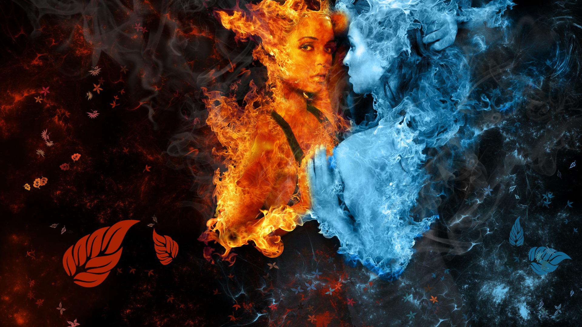 технология красивые картинки лед и огонь и вода сушилку