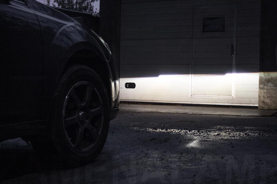 subaru outback Свет автомобиля после замены штатных линз.