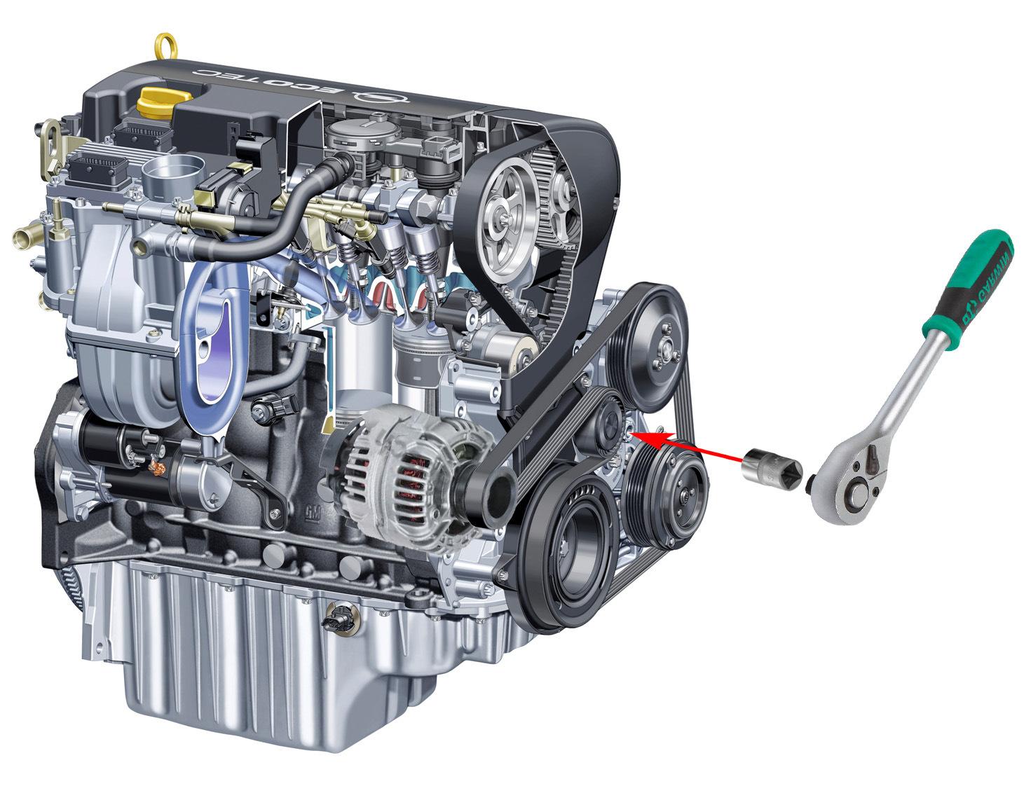 Астра н основные части двигателя фото