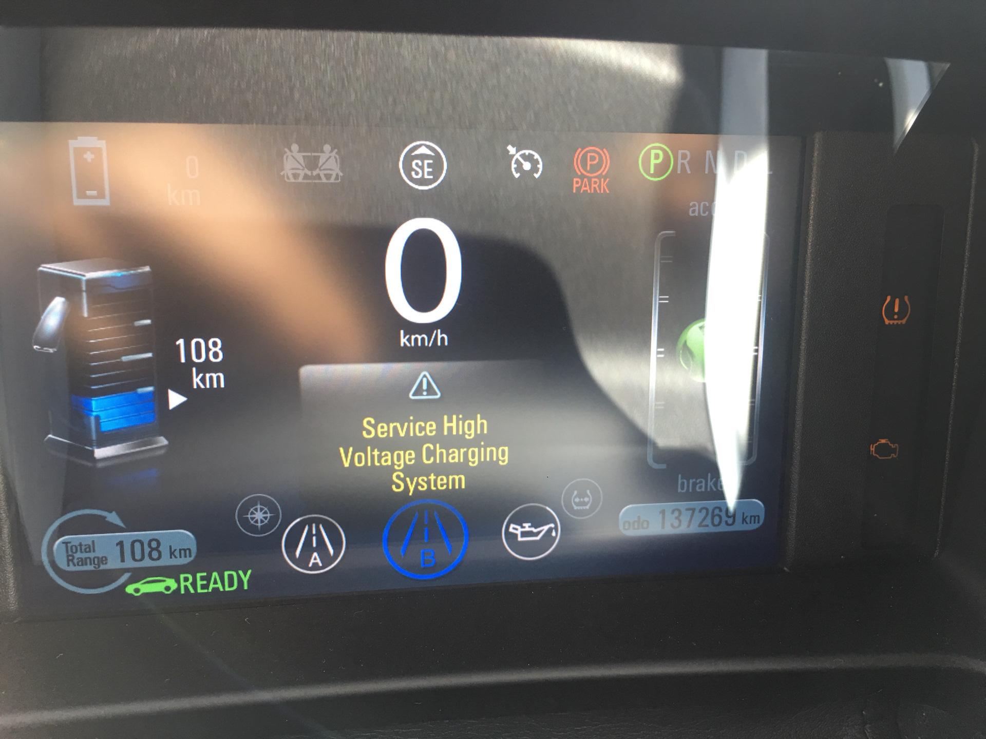 Полный размер Пробег 137000км Долго не заряжали Выбило ошибку Service High Voltage Charging System