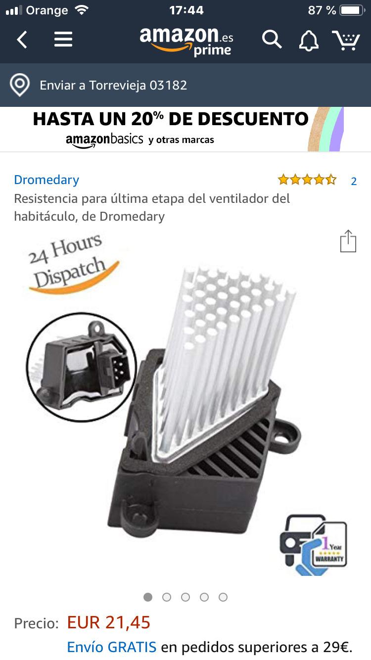 Resistencia para /última etapa del ventilador del habit/áculo de Dromedary