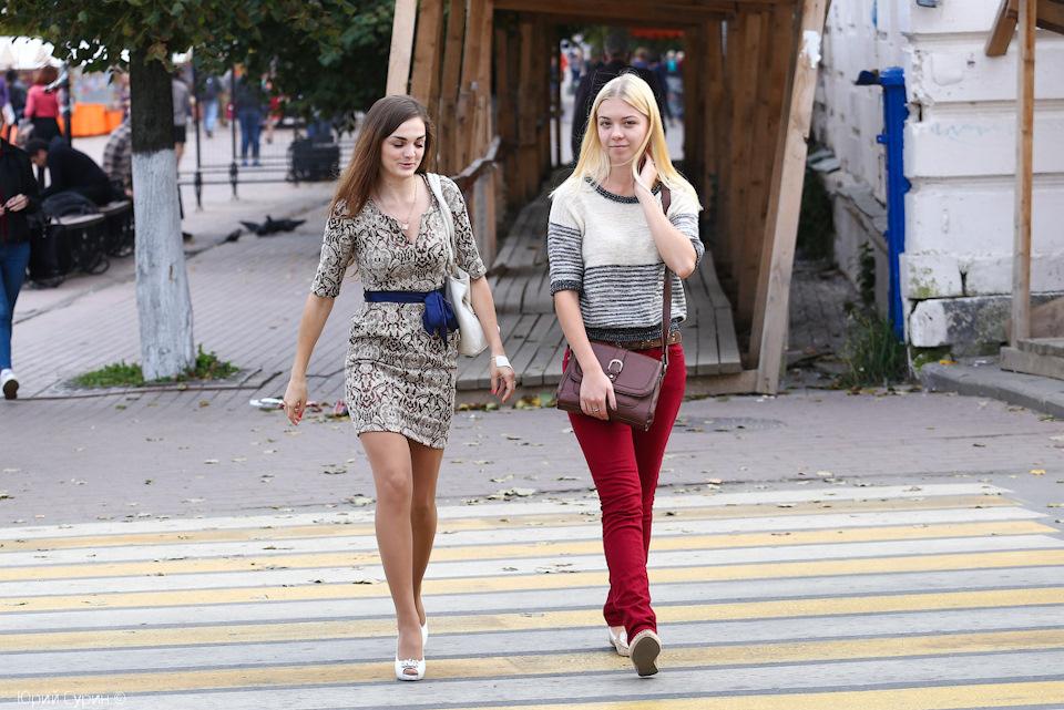 Чешские девушки на улицах