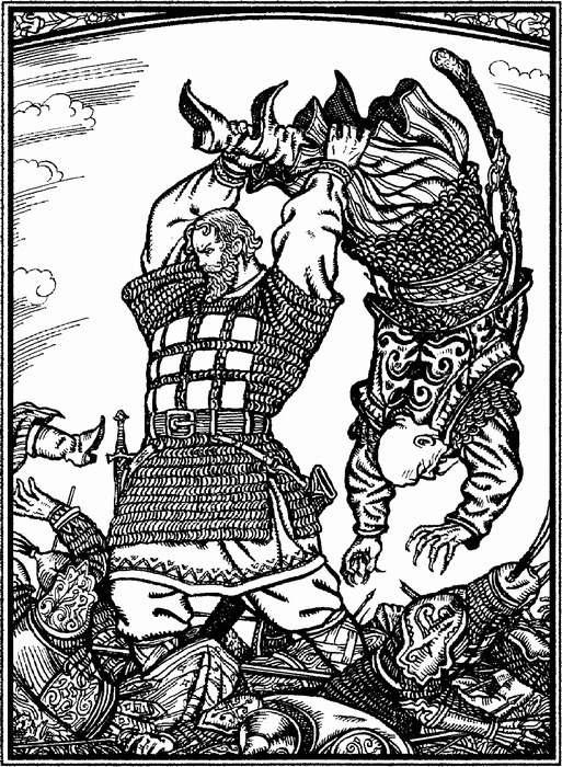 иллюстрации к былине первый бой ильи муромца