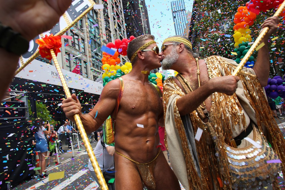 Gay pride world globe america stock vector